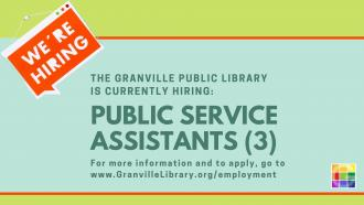 The Library is Hiring Public Service Assistants